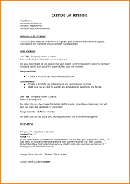 Resume Statement Examples Personal Statements Example For Jobs 24 Statement Resume Examples 16