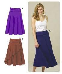 Knit Skirt Pattern Gorgeous Kwik Sew Misses FoldOver Waist Knit Skirts Pattern Discount