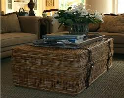 wicker coffee table ottoman wicker coffee table rattan round side end tables white with glass top wicker coffee table