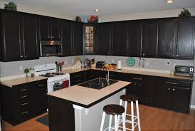 dark stained kitchen cabinets. Delighful Dark Dark Stained Oak Kitchen Cabinets Elegant Handsome Furniture For  Decoration Using White Wood Throughout K