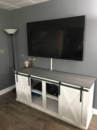 hey i found this really awesome etsy listing at s etsy listing 505731785 sliding barn door tv stand a console