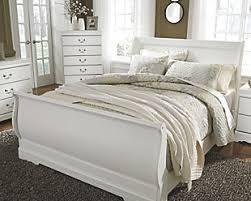 white sleigh bed full. Interesting Bed Anarasia Queen Sleigh Bed White Large For White Bed Full E