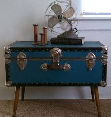 Vintage trunk coffee table Repurposed Vintage Trunk Coffee Table Vintage Steamer Trunk Coffee Table Pertaining To Vintage Trunk As Coffee Table Dotrocksco Vintage Trunk Coffee Table Best Vintage Trunks Chests Images On