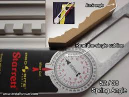 Crown Molding Miter Chart Crown Angle Generator