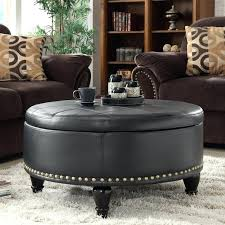 large leather ottoman coffee table white leather ottoman coffee table leather