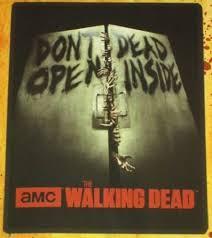 new the walking dead don t open dead inside plush fleece gift blanket zombie nip