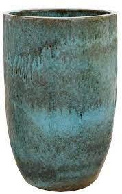 ceramic turquoise round tall large