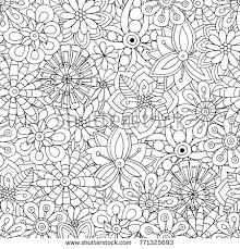 pattern for coloring book flowers ethnic fl retro doodle