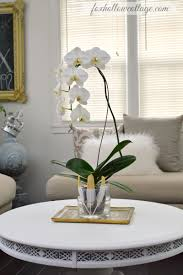 day orchid decor: mantel decor and how to diy an orchid flower vase