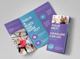 Sports Wellness Brochure Templates Mycreativeshop