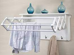 expandable wall mount laundry clothes