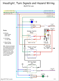 russ thompson turn signal flasher wires question ffcars com a couple of wiring diagrams that might help you out courtesy of john my427sc com for use a push pull headlight switch