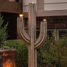 outdoor torch lighting. seguero cactus torch light outdoor lighting
