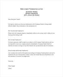 Sample Cobra Termination Letter Employment Termination Letter Sample For Non Performance