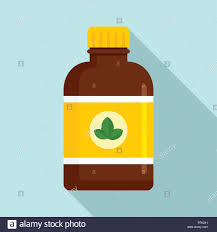 Mint Web Design Mint Syrup Icon Flat Illustration Of Mint Syrup Vector Icon
