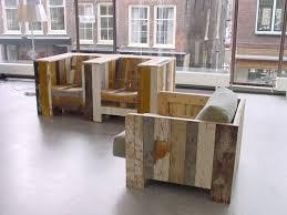 Reclaimed Wood Lounge Chairs by Piet Hein Eek