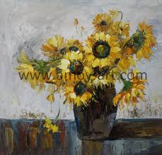 chinese handmade sunflower oil paintings for home decoration china fl oil paintings canvas art paintings