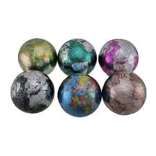 Decorative Marble Balls Set of 100 Colorful Metallic World Globe Decorative Balls 100 inch 18