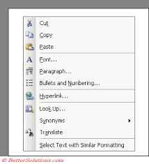 microsoft word menus bet microsoft word toolbars menus shortcut menus
