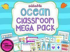 preschool bathroom signs. Ocean Classroom Theme MEGA Bundle With Editable Signs (other Themes Available) Preschool Bathroom