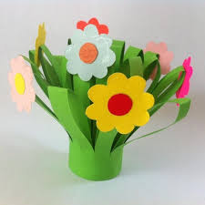 How To Make A Simple Paper Flower Bouquet Diy Mothers Day Paper Flower Bouquet Flower Crafts