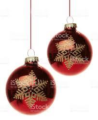 Weihnachten Weihnachtskugeln Rot Hängend Stock Photo