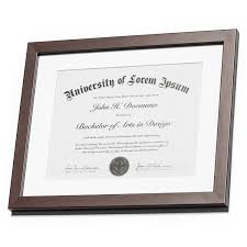 diploma frames mahogany document frame made to display documents sized 8 5 x 11 inch mat and