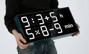albert clock solve math equations to figure out what time it is