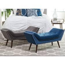 Bench for bedroom Upholstered Belham Living Marika Modern Bench Hayneedle Bedroom Benches Hayneedle