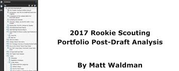 The Rookie Scouting Portfolio Rsp The 2017 Rsp Post Draft