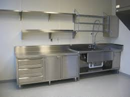 Steel Shelf For Kitchen Silver Stainless Steel Wall Mounted Shelves On White Wall Plus