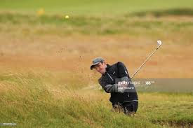 Louth , Ireland - 29 June 2020; Adam Cathers plays from a bunker onto...  News Photo - Getty Images