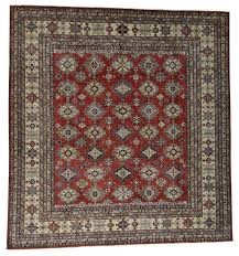 hand knotted pure wool super kazak oversized square rug 13 2 x13
