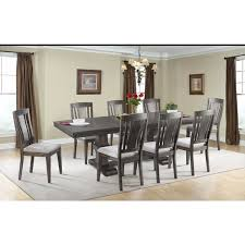 picket house furnishings steele 9pc dining set table 8 wooden chairs