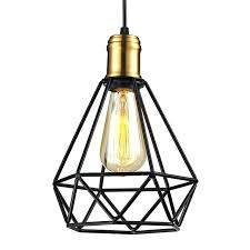 ikea pendant light wrought iron chandeliers pendant lamps living room industrial classic home metal cage led