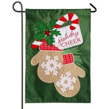 christmas garden flags. Holiday Cheer Mittens Christmas Garden Flag Flags E