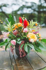 Maui Floral Design Bright Colorful Destination Wedding In Maui Floral