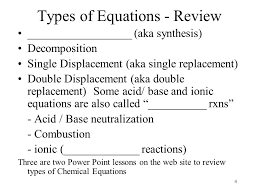 4 4 types of equations