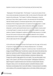 literature comparison essay the tempest year vce english  literature comparison essay the tempest