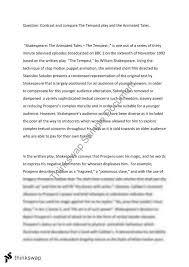 literature comparison essay the tempest year vce english literature comparison essay the tempest