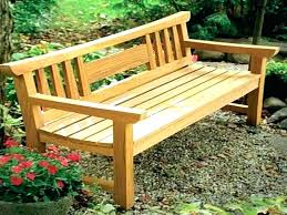 patio bench with back outdoor timber bench seat country benches for outside