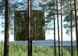 Treehouse masters mirrors Frank Lloyd Mirrored Treehouse Sweden Photo Reflecting Treehugger Almost Invisible Mirrored Tree House Built In Sweden Treehugger