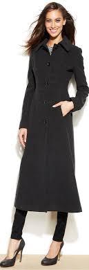 anne klein wool blend maxi walker coat