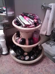 diy planter makeup holder