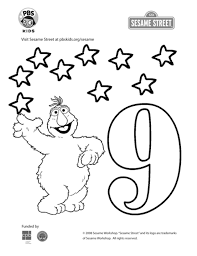 Follow the color key and watch the image come to life before your very eyes. The Number 9 Coloring Page Kids Coloring Pbs Kids For Parents