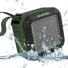portable outdoor speakers. waterproof bluetooth speaker, infinilla 4.1 portable outdoor \u0026 shower wireless speakers, super bass, 12 hour playtime with mic, nfc and sd card support speakers m