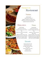 Free Food Menu Template Awesome 48 Restaurant Menu Templates Designs Template Lab