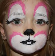 rabbit face makeup you all have a great easter and the bunny