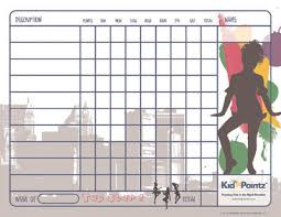 Chart Moves Behavior Free Printable Behavior Charts Dance Theme Kid Pointz