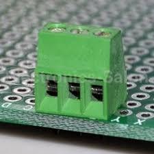 100pcs 3 poles pin terminal block pcb panel universal screw 5mm pitch socket